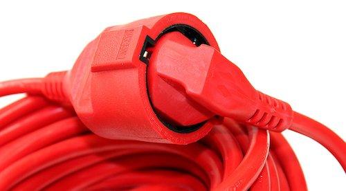 Abflammgerät Verlängerungskabel Rot
